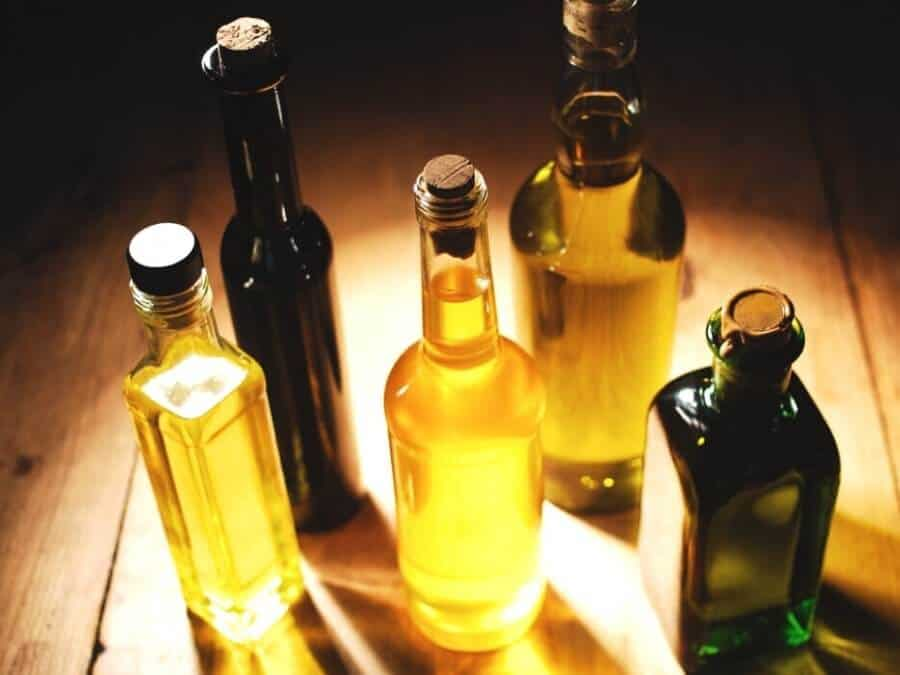 different bottles of oil for cast iron seasoning