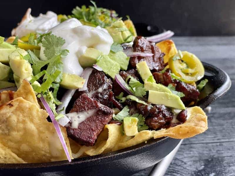 nachos with smoked burnt ends