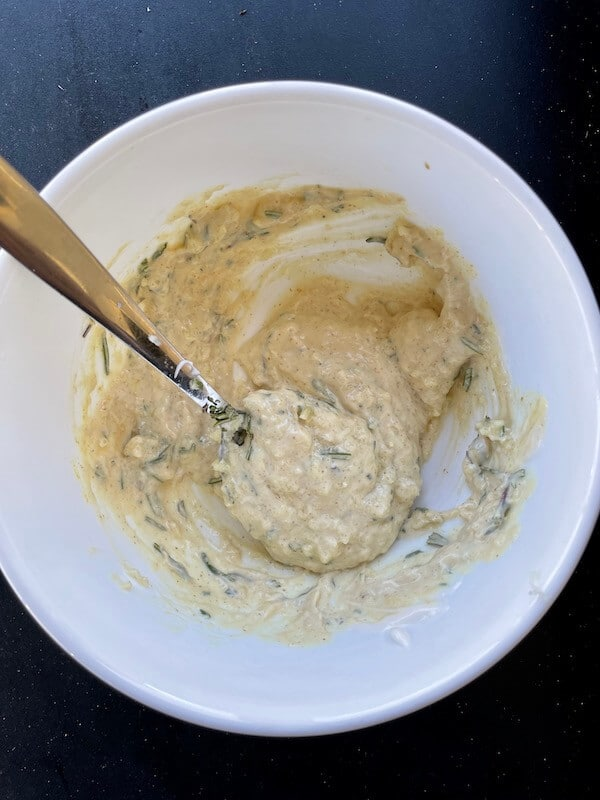 horseradish mayonnaise mixture in a bowl