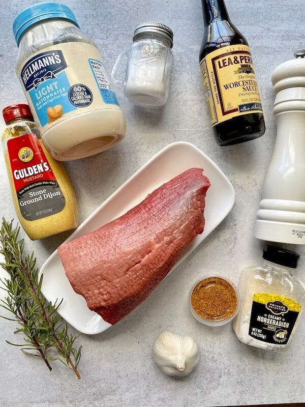 ingredients to make smoked beef roast