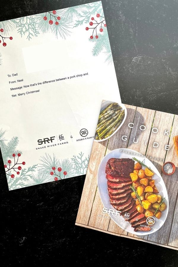 snake river farms brochure and gift letter